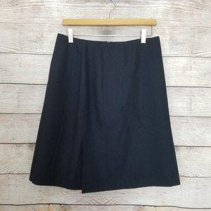 Vintage Harve Bernard Wool Single Pleat Skirt 12P